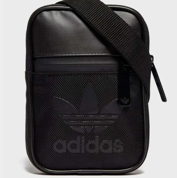 4fb8d4b39bb4 NWT ADIDAS Black Festival Crossbody Bag!
